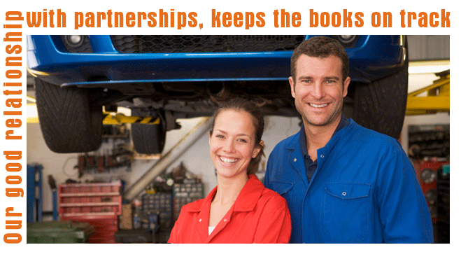 Our good relationship with partnerships, keeps the books on track